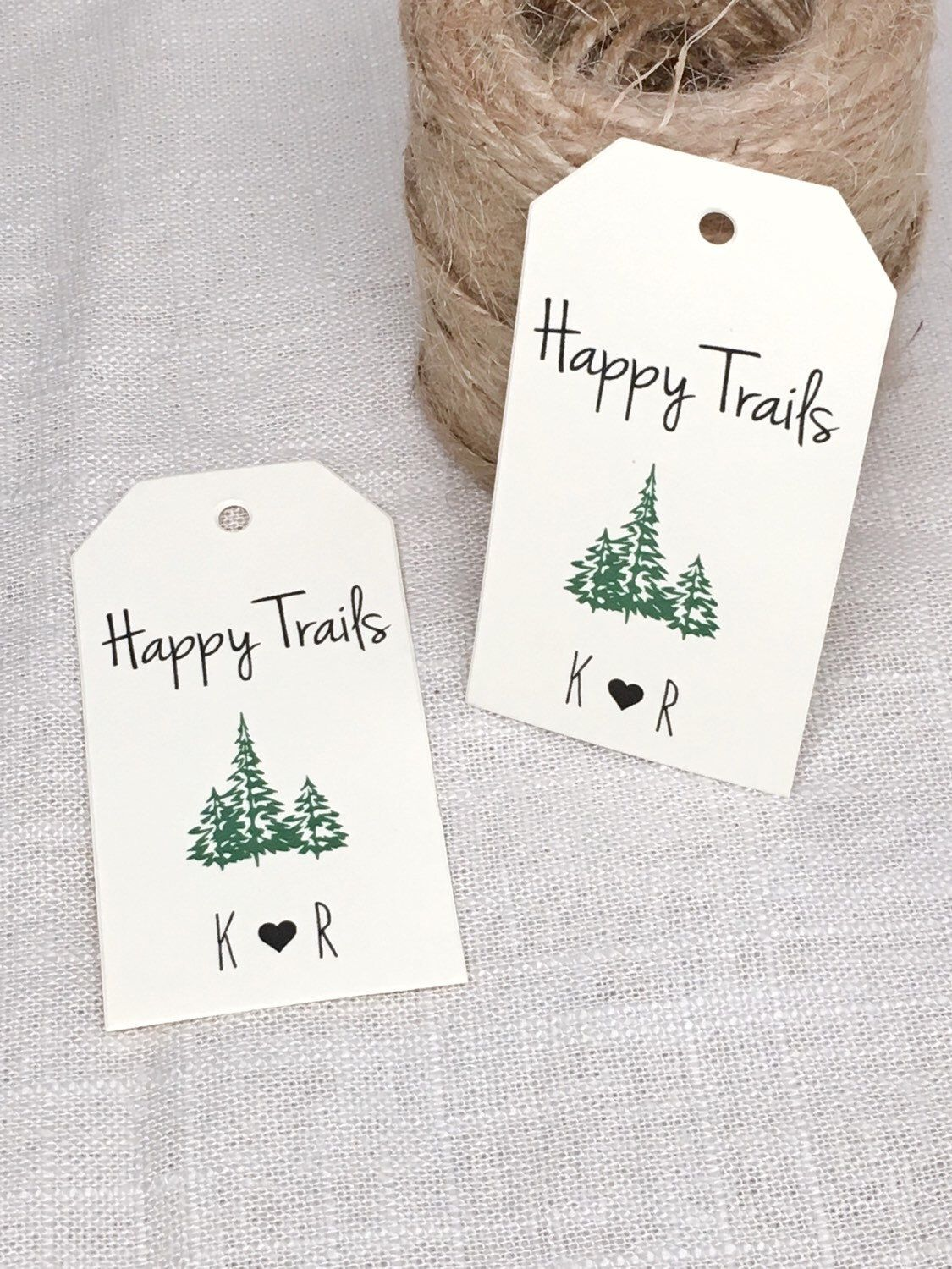 Digital Woodland Wedding Favor Gift Tag Cards - Drinking Thank You ...