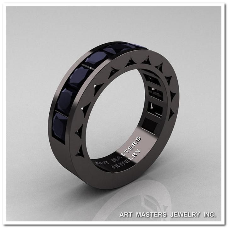 male engagement rings black and silver with diamonds 39 - Unusual Mens Wedding Rings