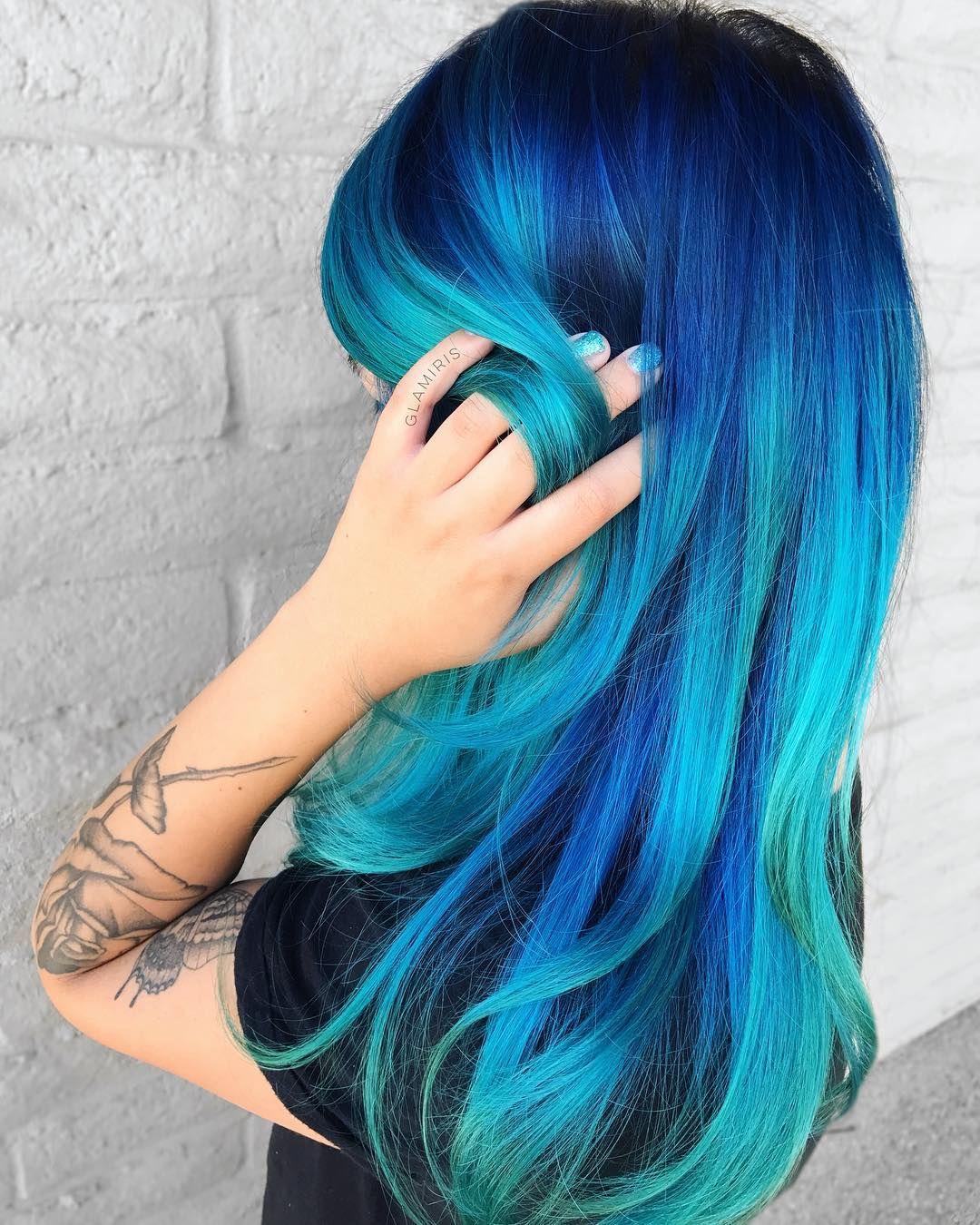 Ocean Hair Trend takes blue hair to the next level bob hairstyles | hairstyles 2018 – latest hairstyles 2018 – hair models 2018