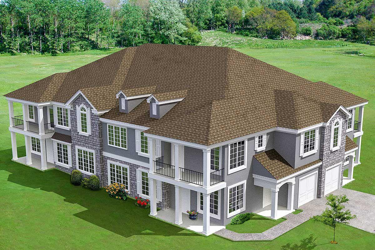 Plan 18511wb 8 Unit House Plan With Corner Decks In 2020 House Plans Architectural House Plans Family House Plans