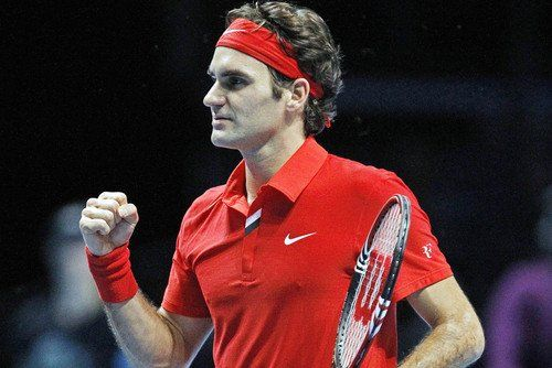 Roger Federer In Red Nike Tennis Shirt And Head Band 24x36 Poster Details Can Be Found By Clicking On The Image Tennis Shirts Red Nike Nike Tennis