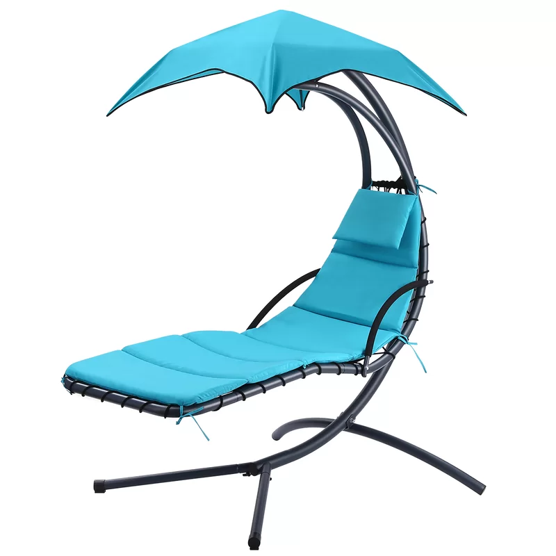 Kingsley Hanging Chaise Lounger With Stand Lounge Chair Outdoor Indoor Hammock Chair Hammock Swing Chair