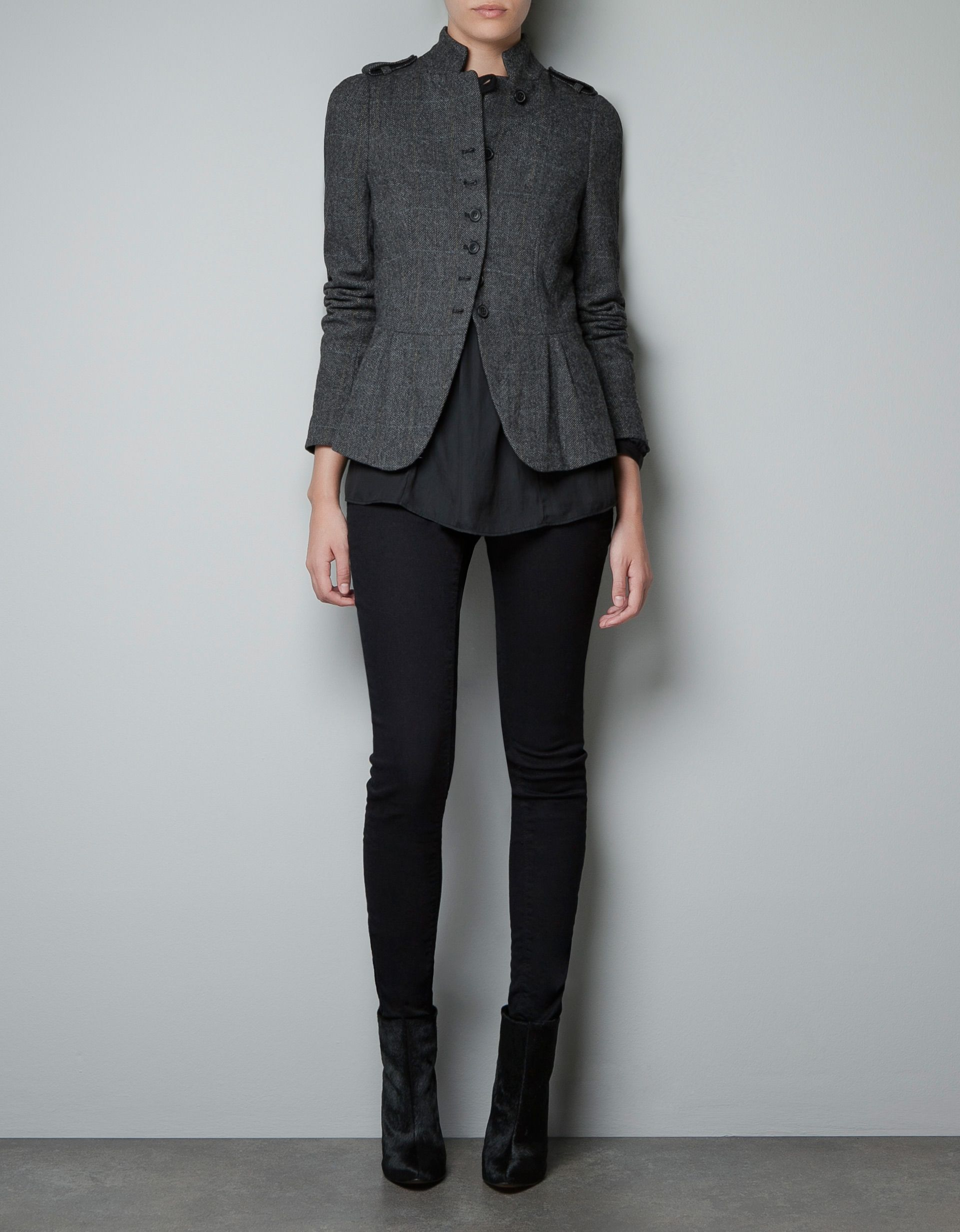 Veste tweed femme solde