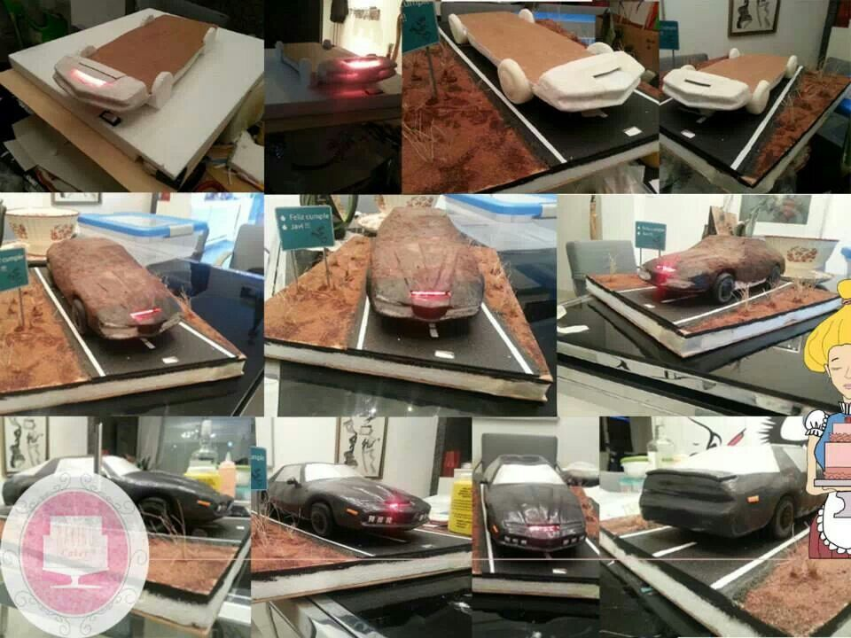 Knight rider cake process with functioning light bar kitt is famous knight rider cake process with functioning light bar kitt is famous for mozeypictures Images