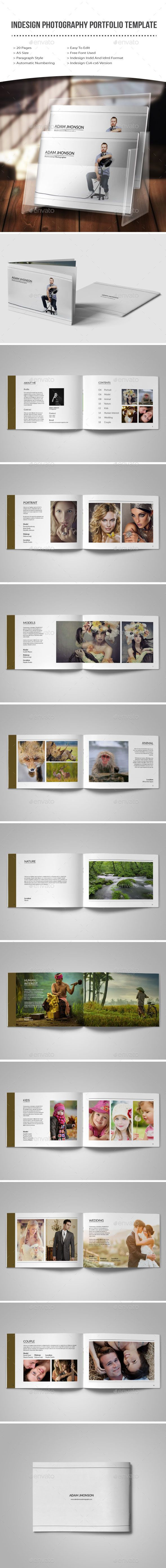 Indesign photography portfolio template