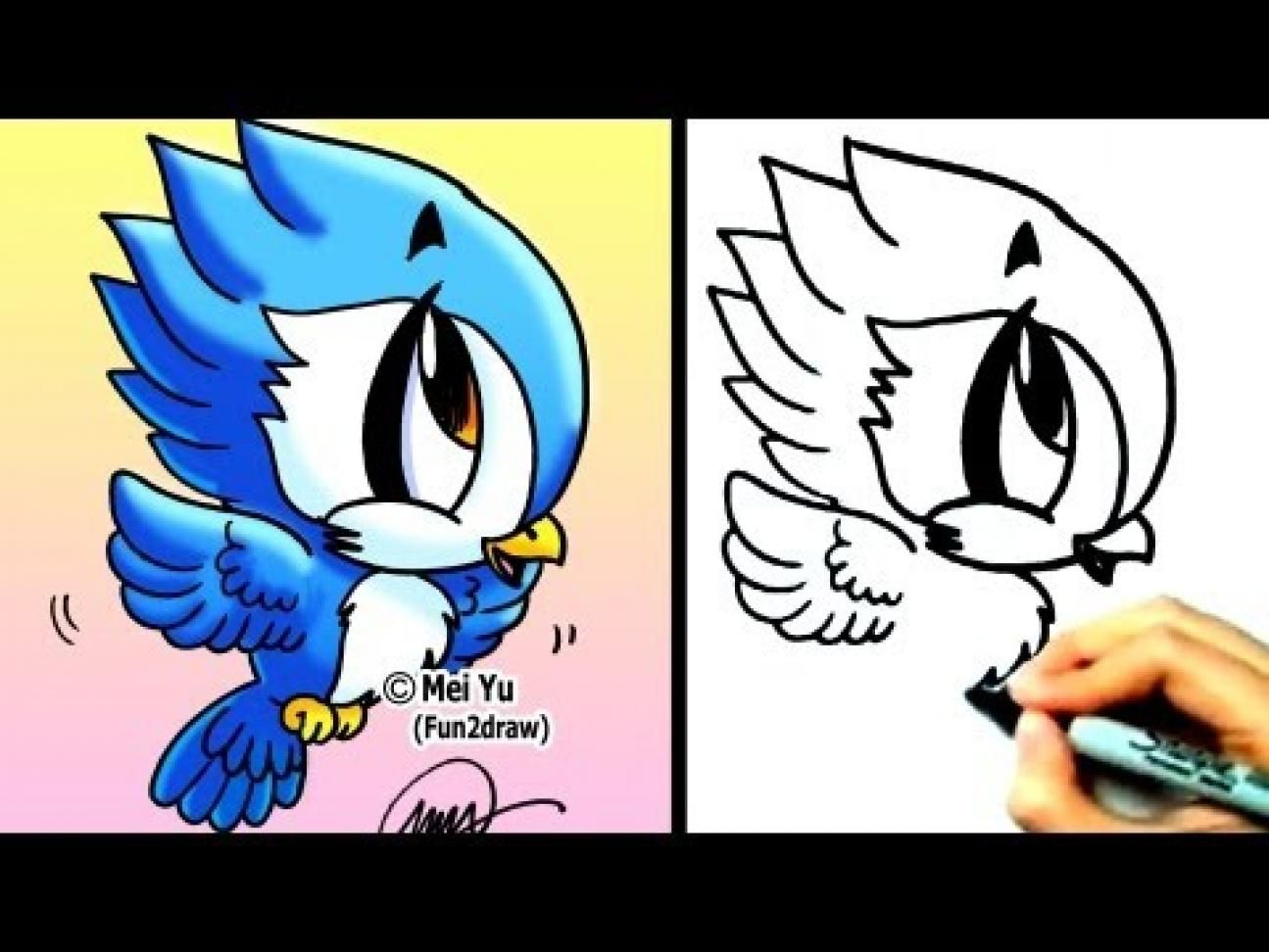 1000 Ideas About Fun 2 Draw On Pinterest How To Draw Cartoons Fun2draw Bird Drawings Cute Drawings