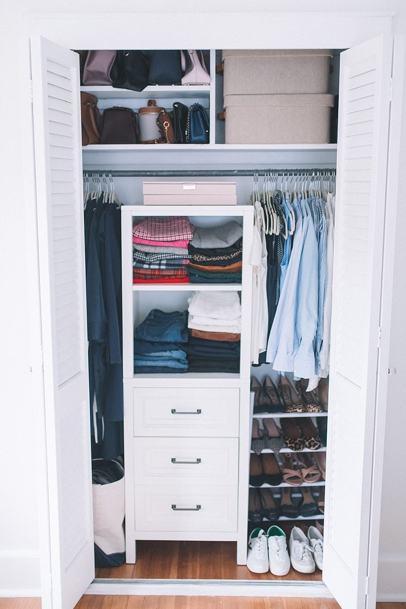 Organizing My Small Closet Carly The Prepster Small Closet Organization Small Closet Organization Bedroom Small Closet