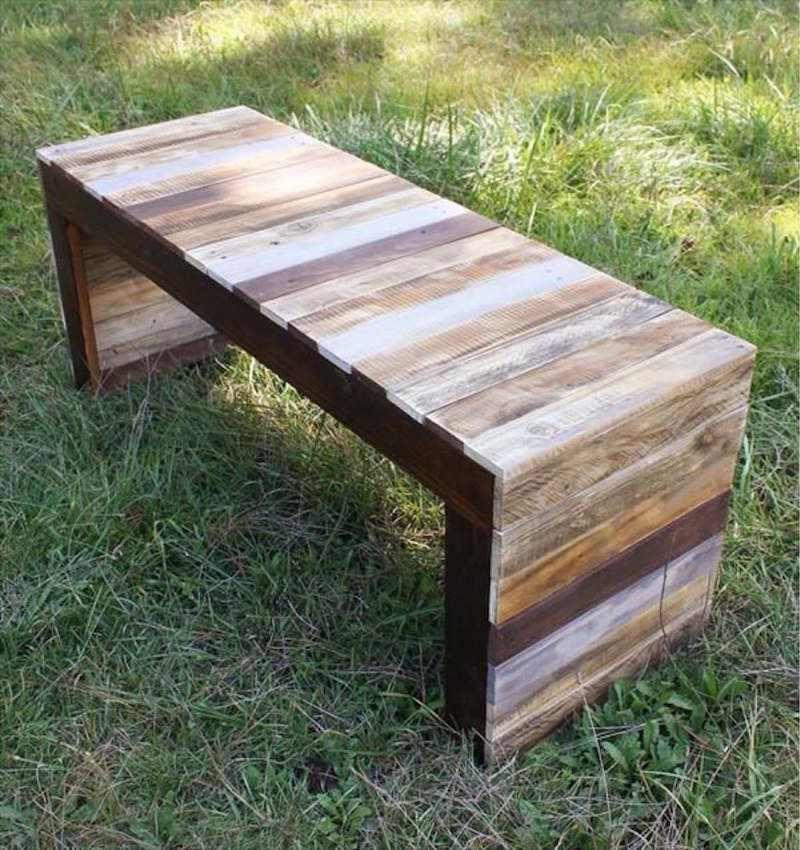 banc en palette palette bois