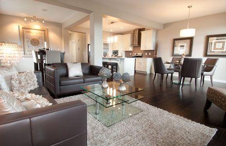 Carleton In Evansridge Main Floor With Cream Walls Trendy Rich Grain Hardwood And Dark Brown