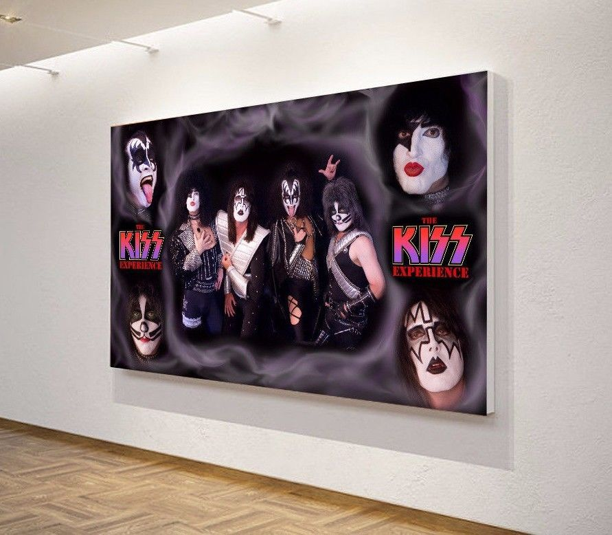 KISS American USA Heavy Metal Hard Rock Band Art Wall Canvas Poster ...