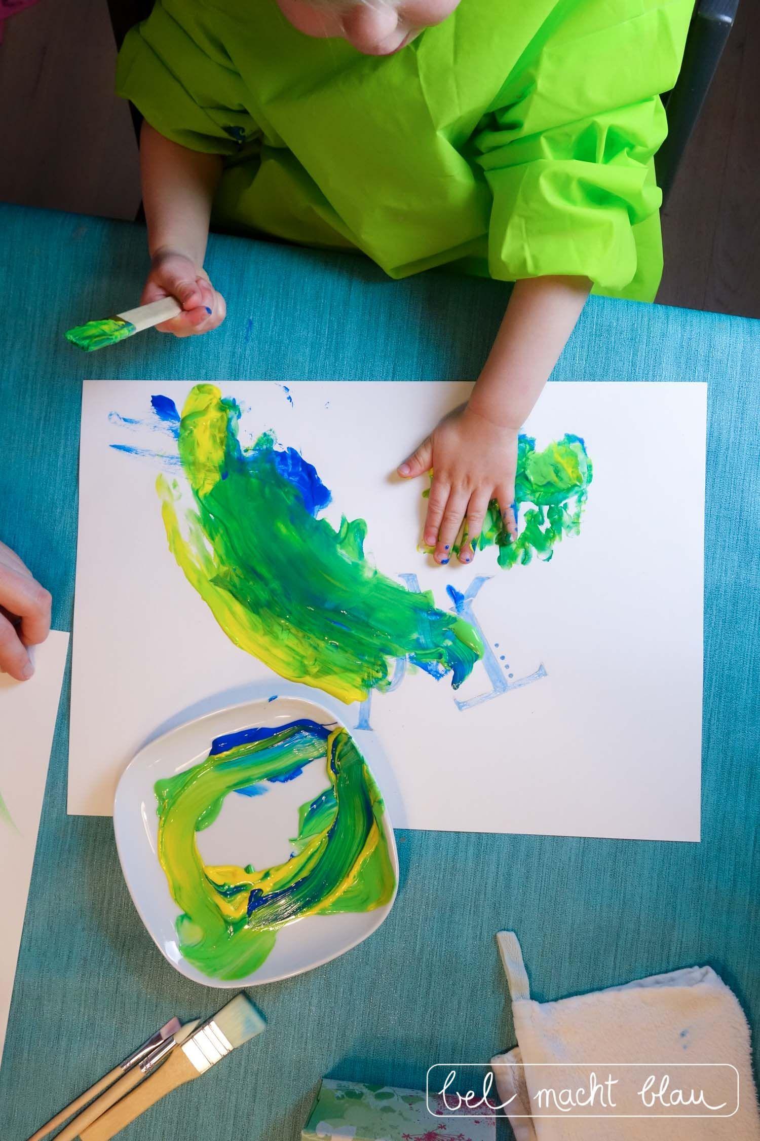 Malen Mit Kleinkindern Tipps Für Farben Und Das Bunte Drumherum Enthält Werbung Bel Macht Blau Kleinkind Kinder Kinder Basteln Ideen