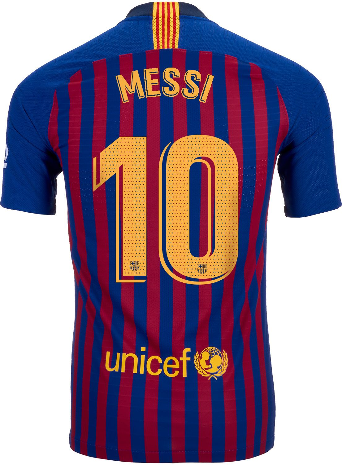 3e3af3f972d 2018/19 Nike FC Barcelona Leo Messi Home Match Jersey. Buy it from  SoccerPro.
