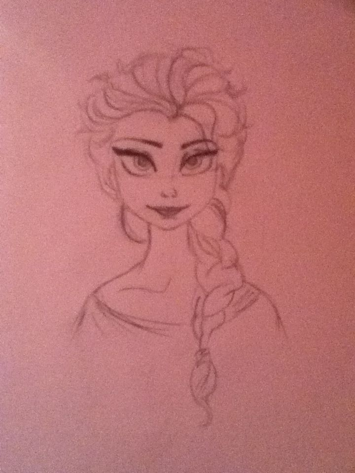 A pic I drew of Elsa from from Frozen. Do you like it? :)