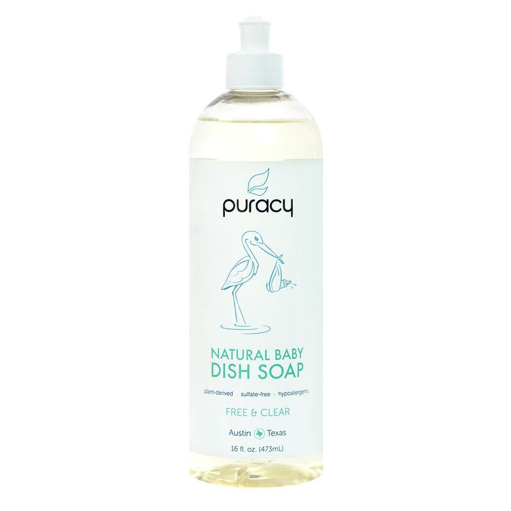 Puracy Natural Baby Dish Soap Sulfate Free Liquid Detergent Free