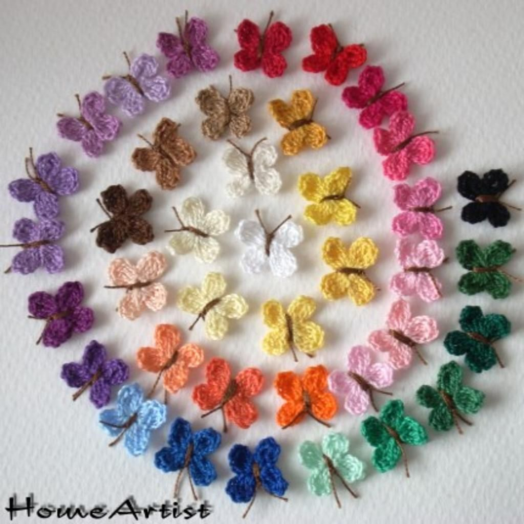 Haar clips crochet häkeln Schmetterlinge | handarbeiten | Pinterest ...