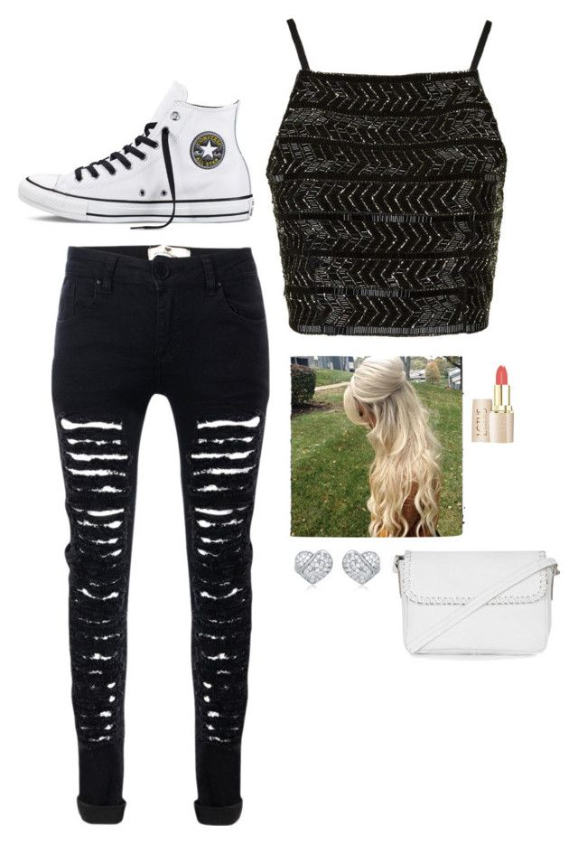 """""""Untitled #2941"""" by if-i-were-famous1 ❤ liked on Polyvore featuring Converse and Topshop"""
