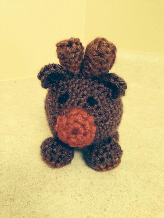 Cute Crochet Christmas Reindeer on Etsy, $15.00