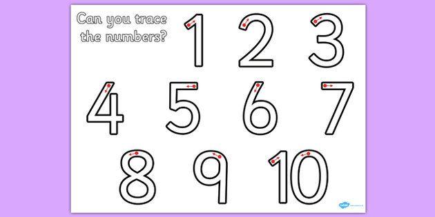 Number Formation 1 10 Worksheet - worksheets, numbers, practice ...