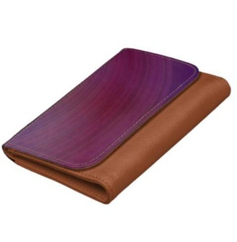 Shades of purple wallet $27.60 *** Purple shades curved stripes elegant design - faux leather wallet