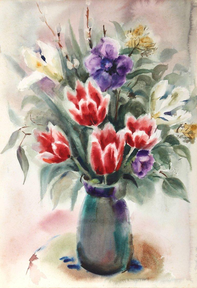 Eve nethercott flowers watercolor by eve nethercott