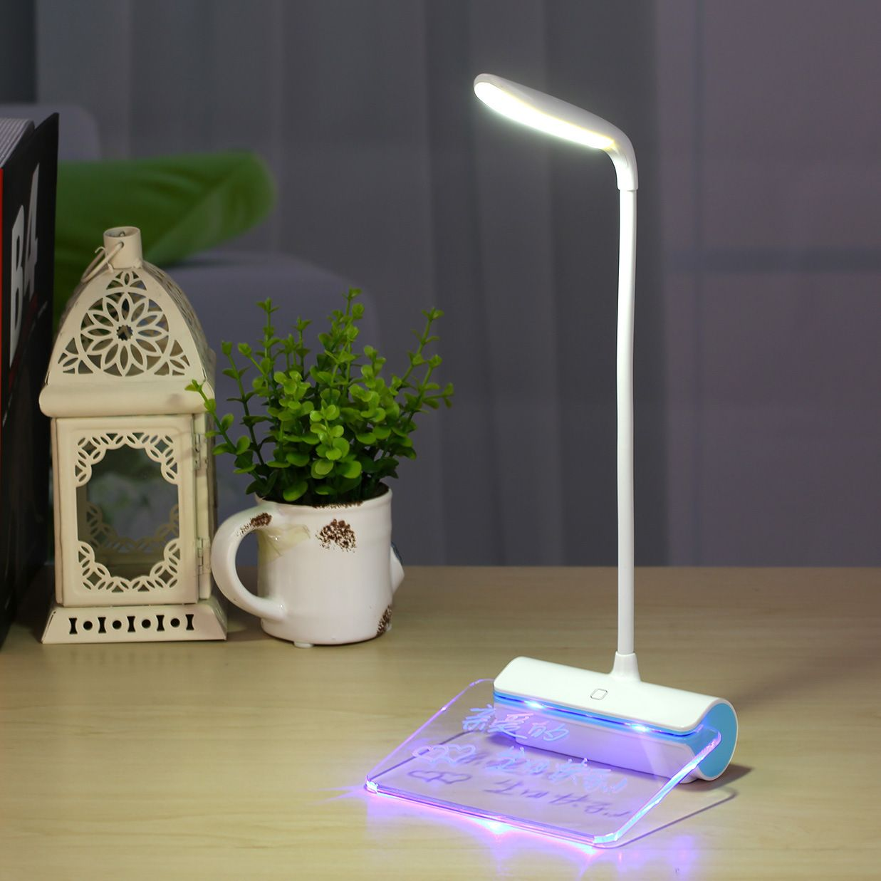 Portable Touch sensor Night light Table lamp with Fluorescent ...