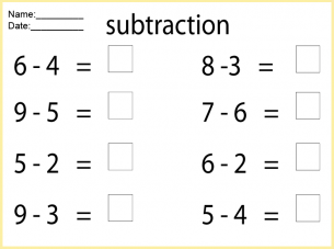 Math Worksheets Subtraction | Free Printable Worksheets ...