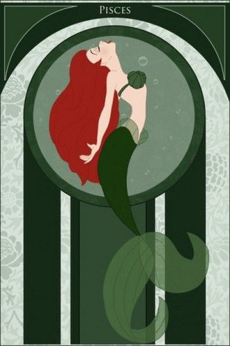 Pisces - Ariel / Peixes - Ariel ------------------------------------------------------------------------> The Signs of the Zodiac, Represented by Disney Princesses