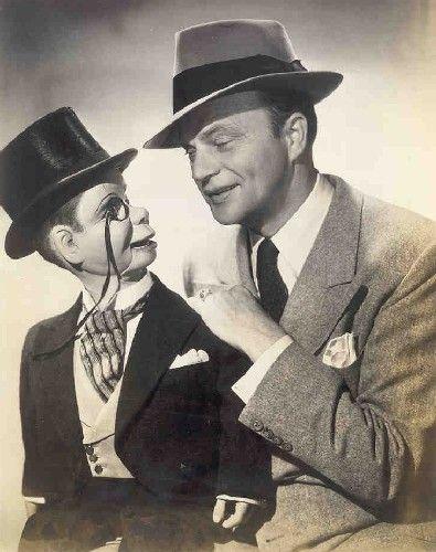 Candice Bergen's dad, Edgar Bergen (with Charlie McCarthy)