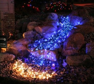 Are These Blue Lights Houzz Outdoor Christmas Lights Hanging Christmas Lights Christmas Lights