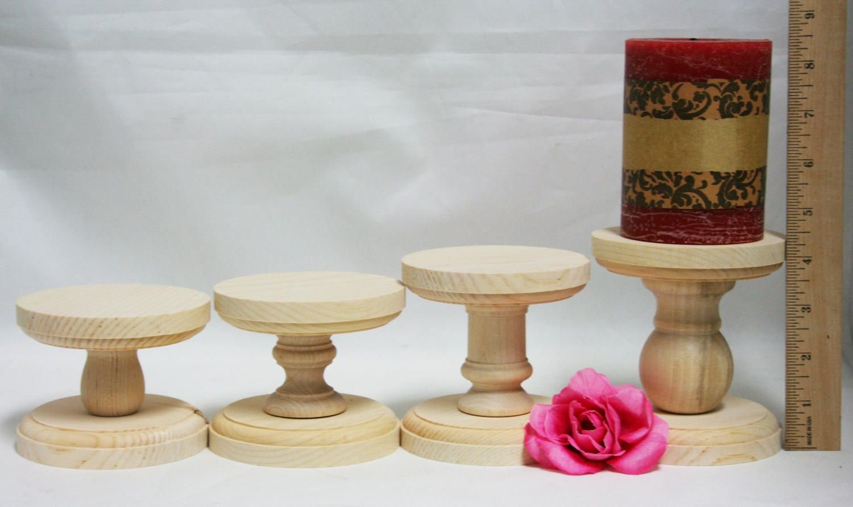 Smaller Unfinished Wood Pillar Candlestick Holders Candlestick Holders Wedding Table Candlestick Holder Candlestick Holders Candlesticks Wooden Pillars