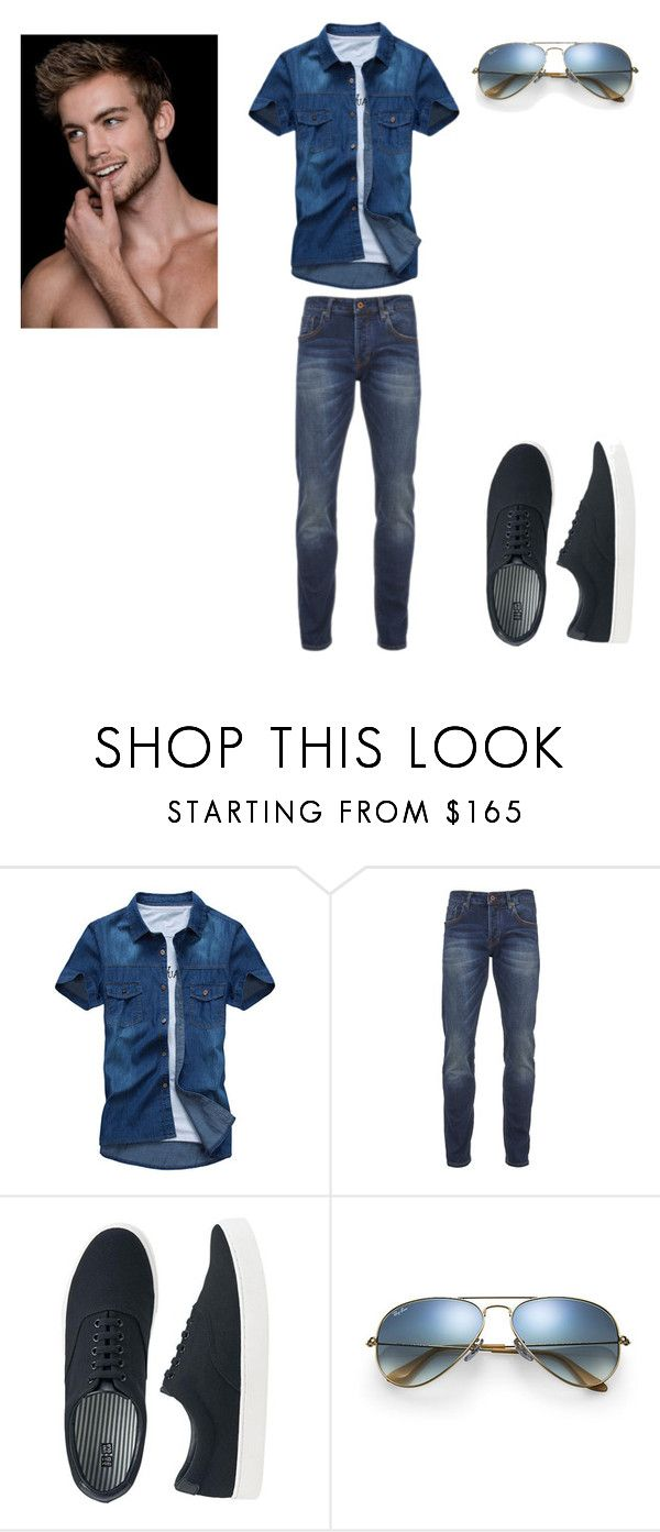 """""""Untitled #172"""" by snow21white ❤ liked on Polyvore featuring Scotch & Soda, Uniqlo, Ray-Ban, men's fashion and menswear"""