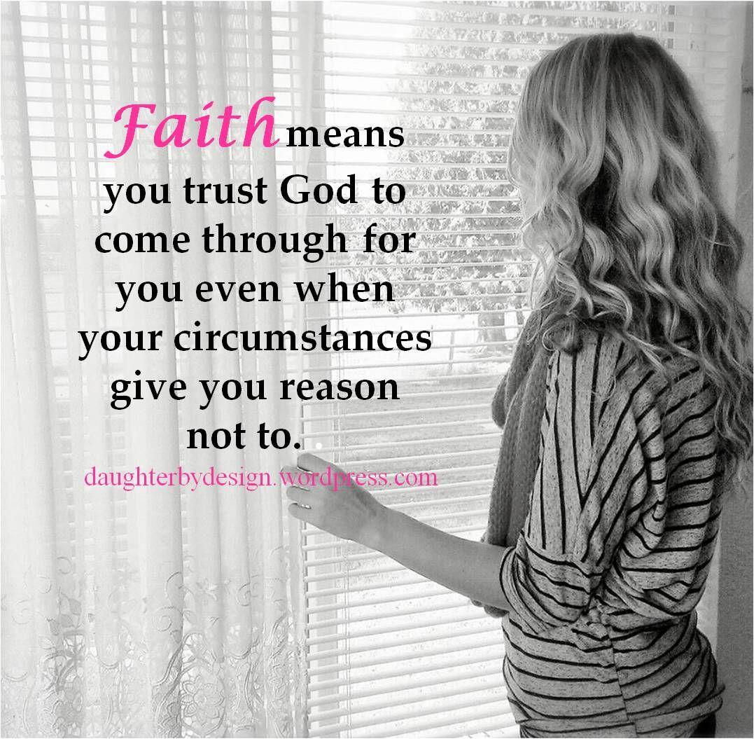 faith means trust trust - HD1077×1055