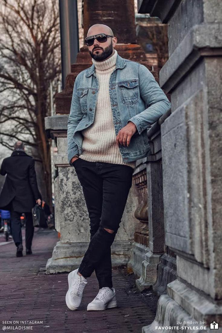 Cooles Herbst Outfit für Männer mit Rollkragen und