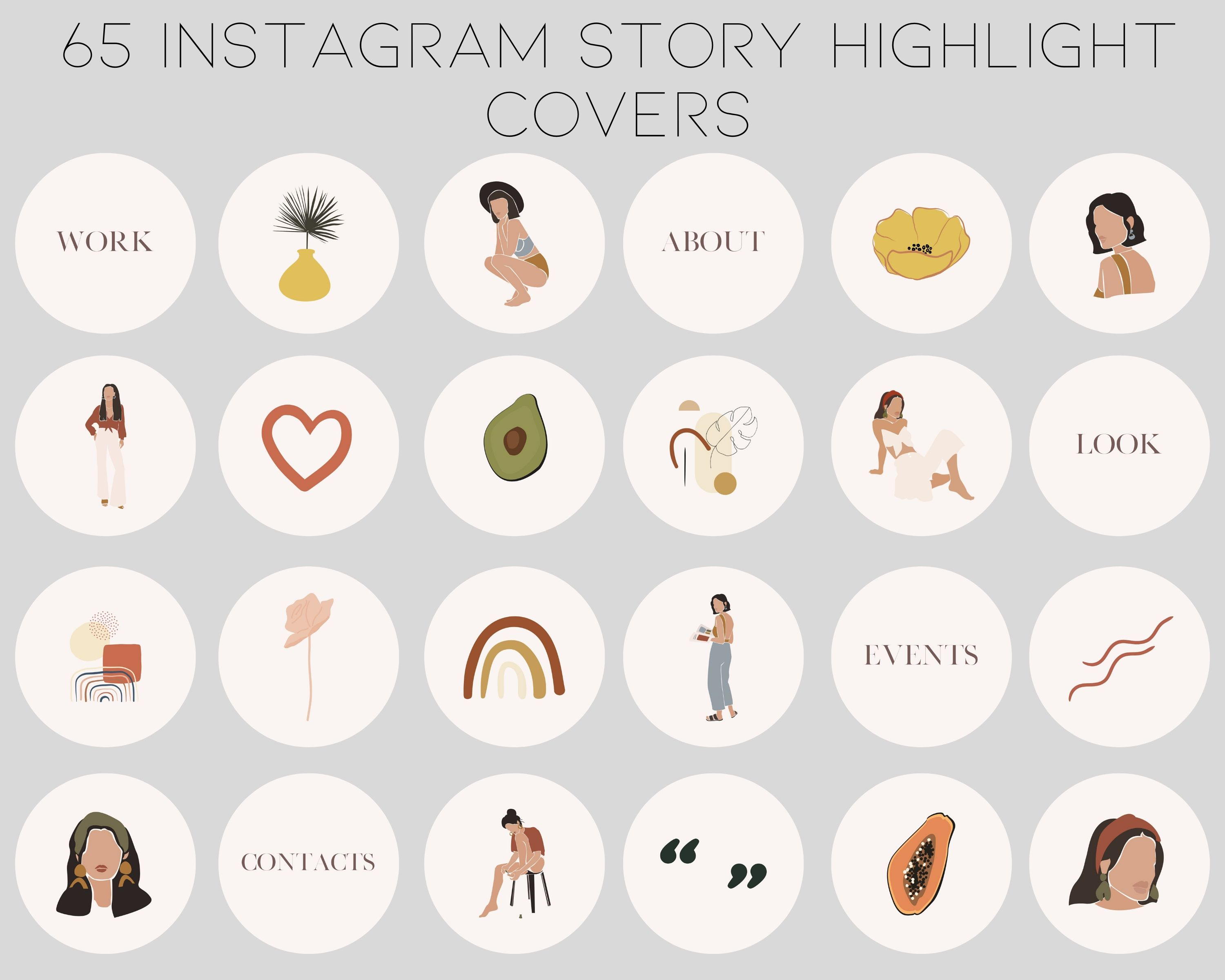 65 Instagram Highlight Icons Instagram Covers Boho Etsy In 2020 Instagram Highlight Icons Social Media Icons Instagram Photo Ideas Posts