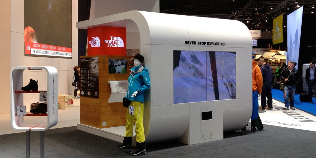 Exhibition Stand Design Agency : The north face exhibit stand ignition design