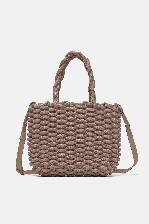 Cordón Flechten Shopper TascheUnd Shopper TrenzadoZara 0w8nOPk