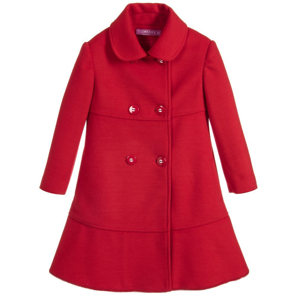 41ff5119c Girls Red Flannel Coat for Girl by ValMax. Discover more beautiful ...