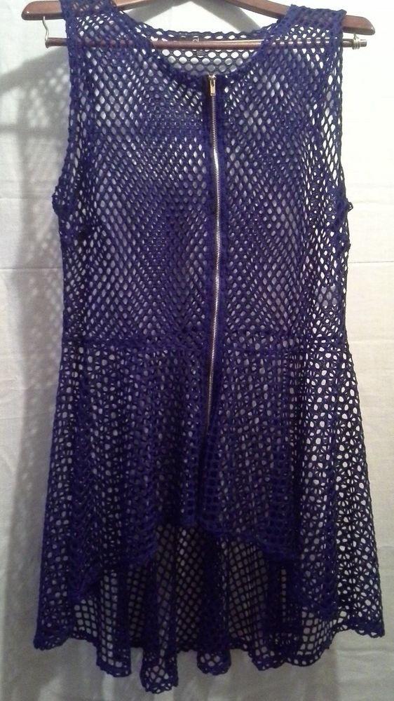 New Women/'s Navy Blue Open Front Long Tunic Vest Top Draped Cardigan SML//Plus