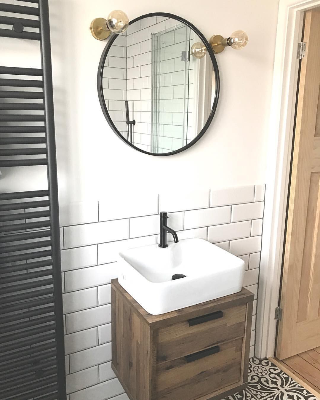 Sink B&Q and cabinet a bedside cabinet from Next rather ...