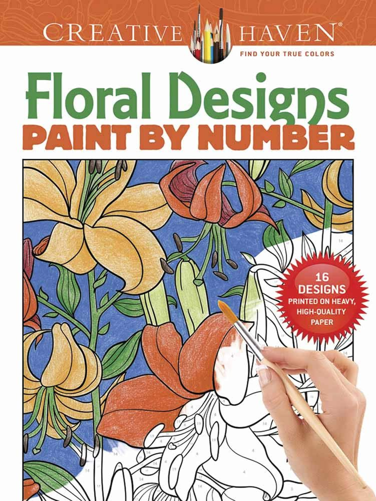 Creative Haven Floral Designs Paint by Number