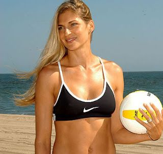 Gabby reece playing volleyball