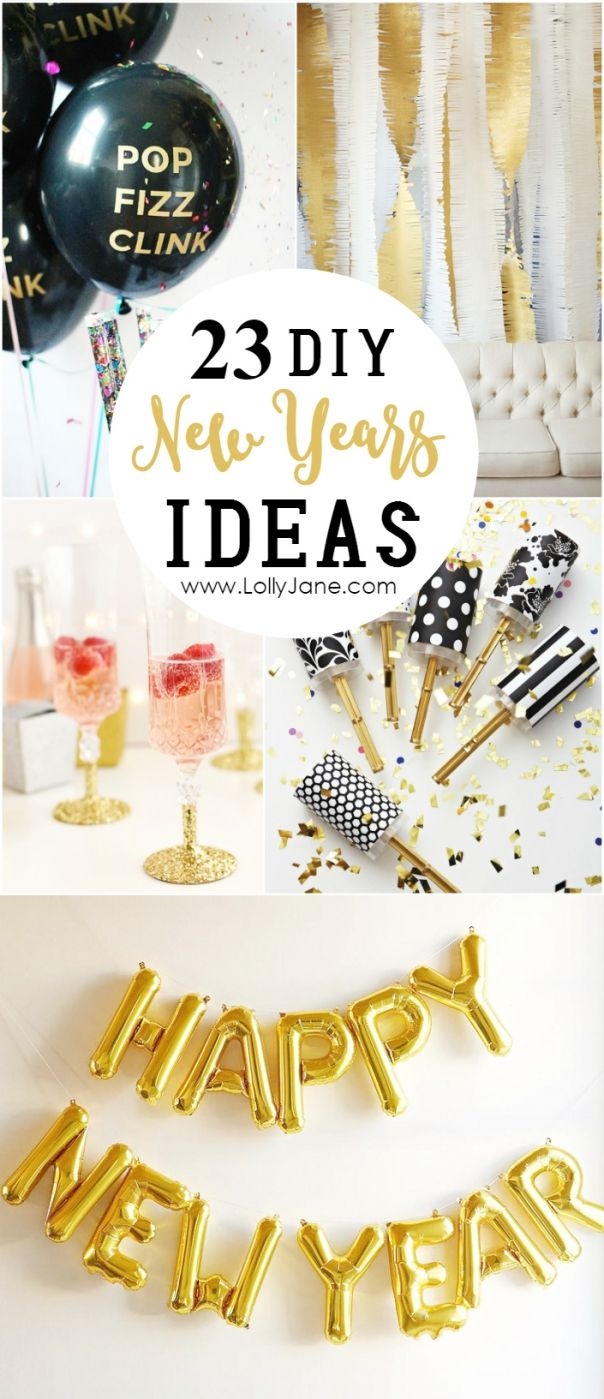 23 diy new years ideas | bake craft sew decorate | pinterest | party