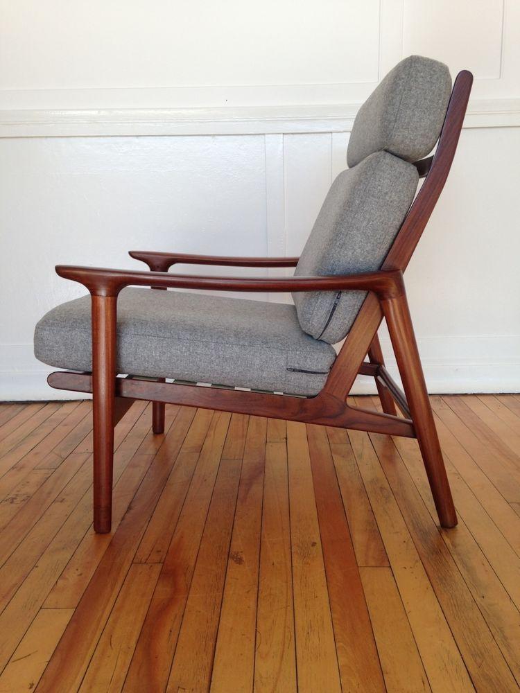 Danish Style 1960 S Guy Rogers New Yorker High Back Armchair Retro