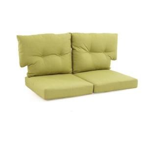 Martha Stewart Living Charlottetown Patio Loveseat Replacement Cushions In  Green Bean 89 55603 At