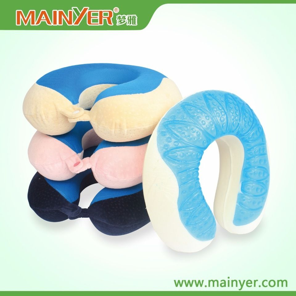 Cooling Gel Memory Foam Neck Pillow With Washable Cover Air