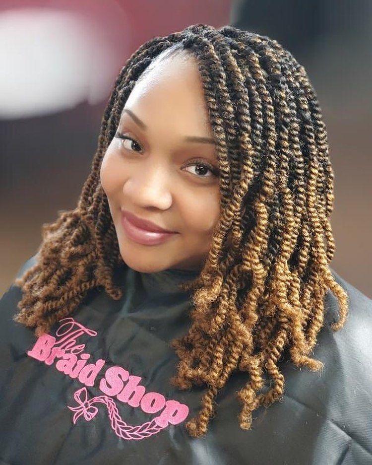 Bomb Twist Spring Twist Crochet Braids Crochet Hair Ombre