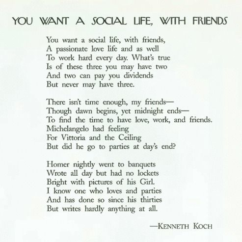 You Want a Social Life with Friends