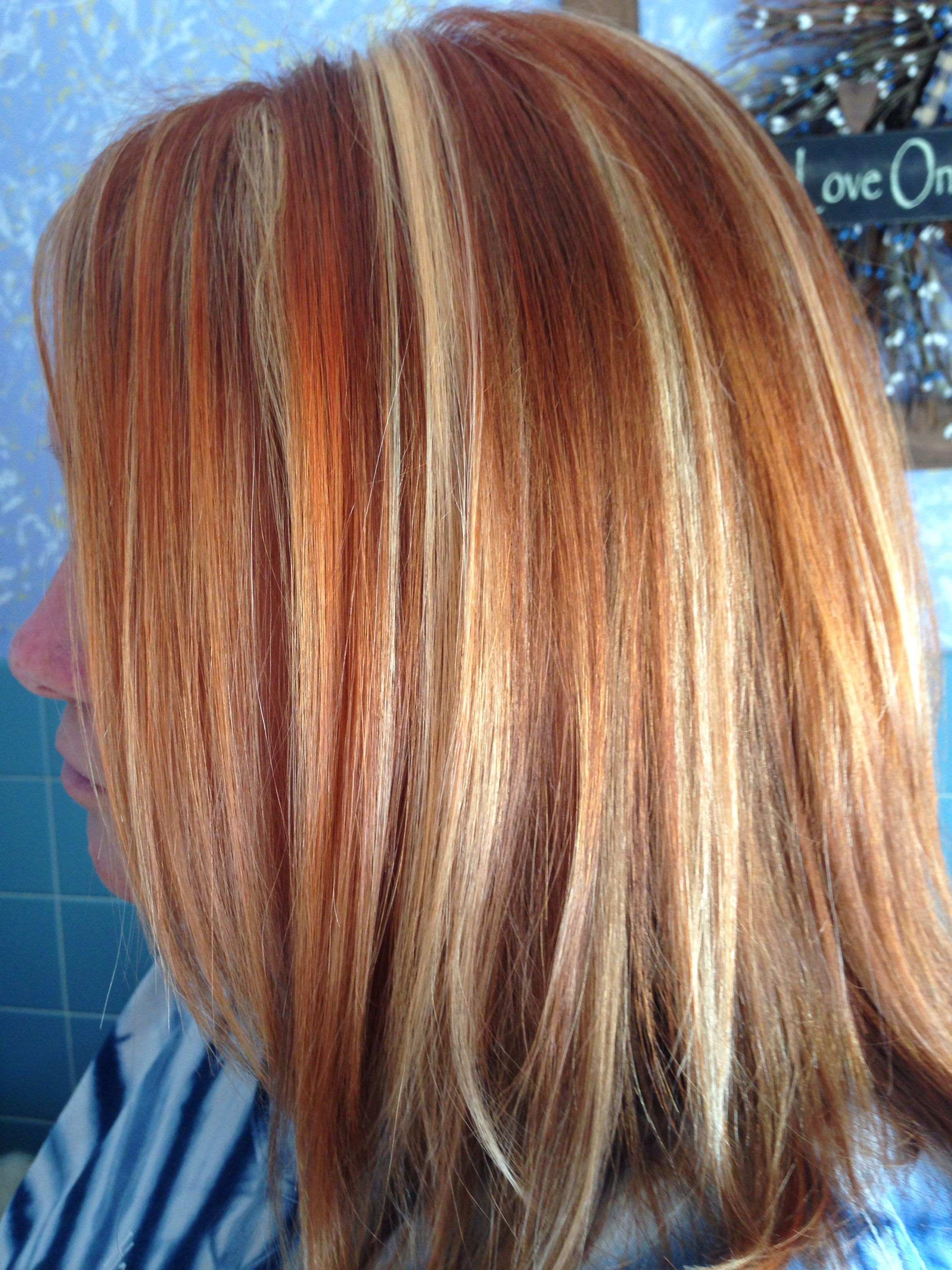Copper And Blonde Foils Sara S Hair Creations Copper