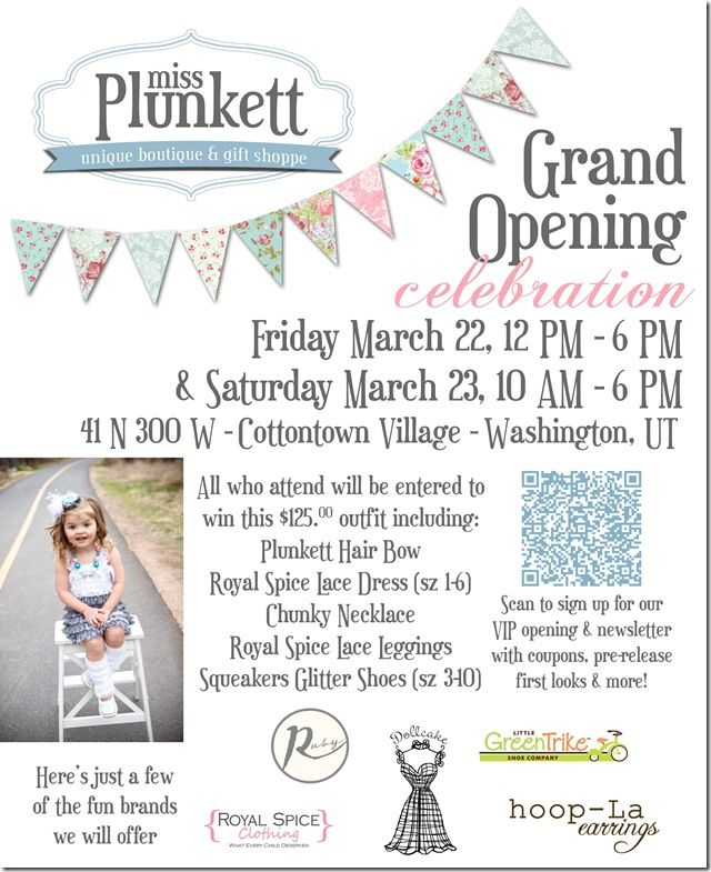 miss plunkett boutique grand opening this weekend