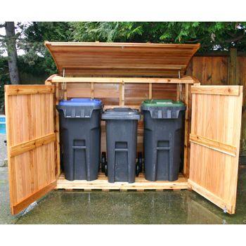 Costco Oscar Refuse Storage Shed Garbage Can Shed Trash Can Storage Outdoor Garbage Can Storage